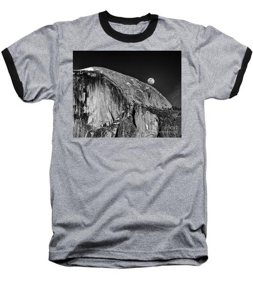 Moonrise Over Half Dome Baseball T-Shirt