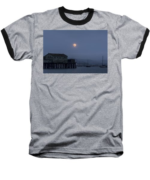 Moonrise Over The Harbor Baseball T-Shirt