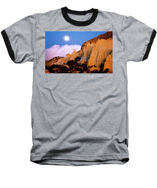 Moonrise Over The Kaiparowits Plateau Utah Baseball T-Shirt by Ed  Riche