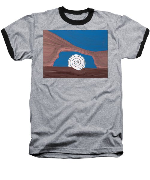 Moonscape Original Painting Baseball T-Shirt