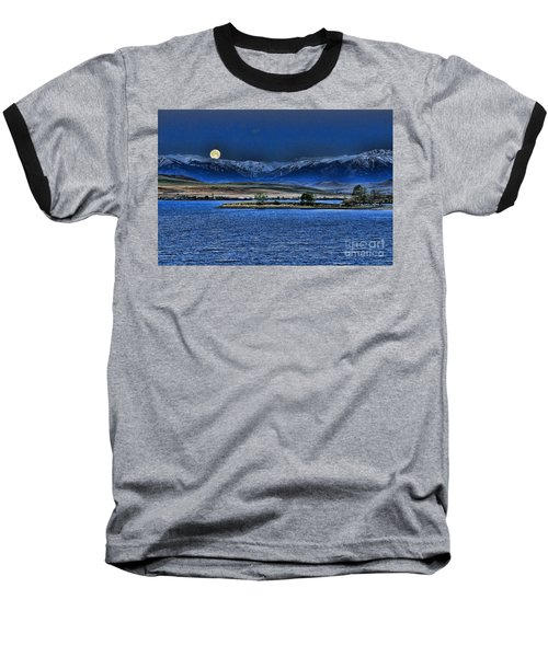 Moonset Over Cooney Baseball T-Shirt