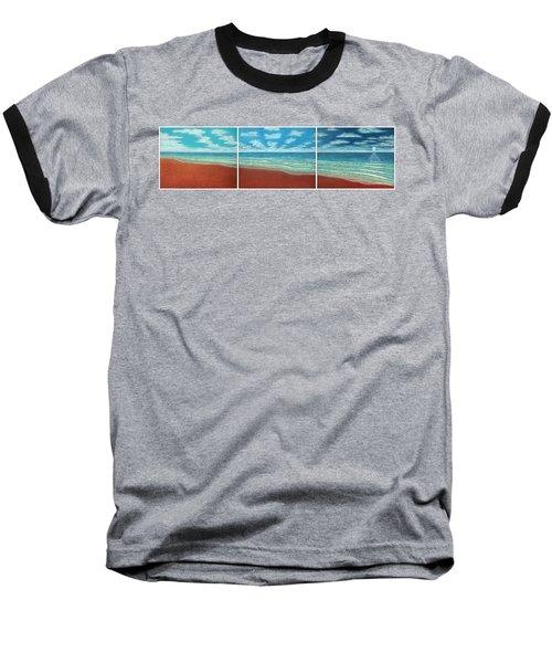 Moonset Triptych Baseball T-Shirt