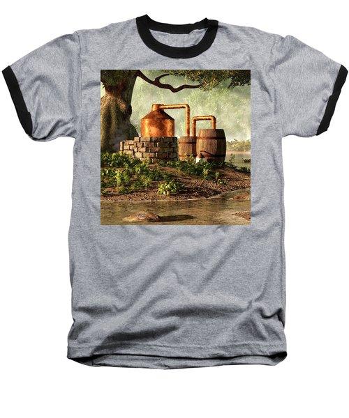 Moonshine Still 1 Baseball T-Shirt