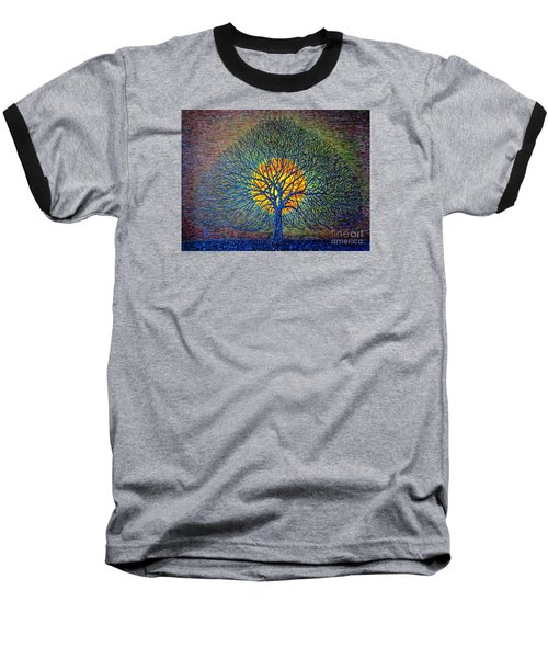 Baseball T-Shirt featuring the painting Moonshine by Viktor Lazarev
