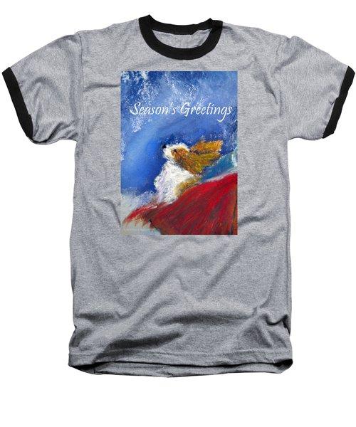 Moonstruck Holiday Card Baseball T-Shirt
