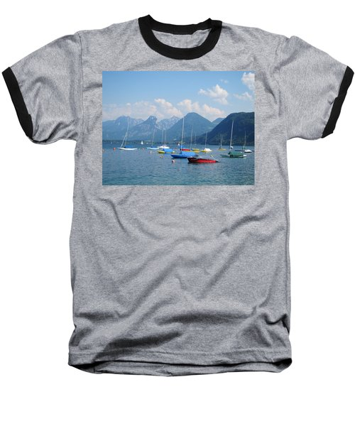 Baseball T-Shirt featuring the photograph Moored Boats by Pema Hou