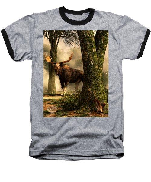Moose And Squirrel Baseball T-Shirt