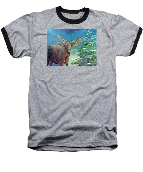 Moosey Christmas Baseball T-Shirt