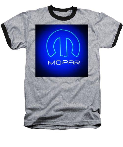 Mopar Neon Sign Baseball T-Shirt