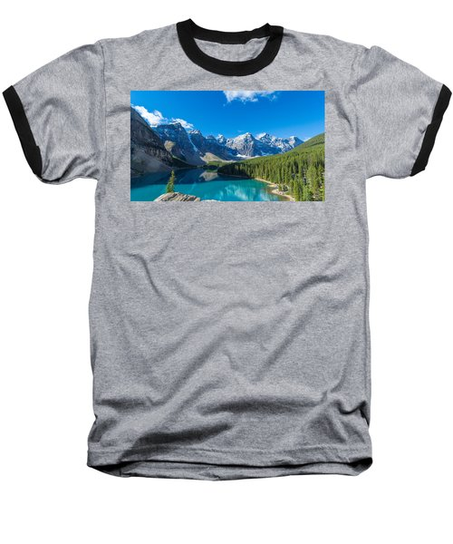 Moraine Lake At Banff National Park Baseball T-Shirt