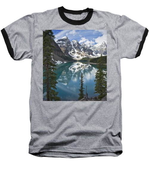 Moraine Lake Overlook Baseball T-Shirt