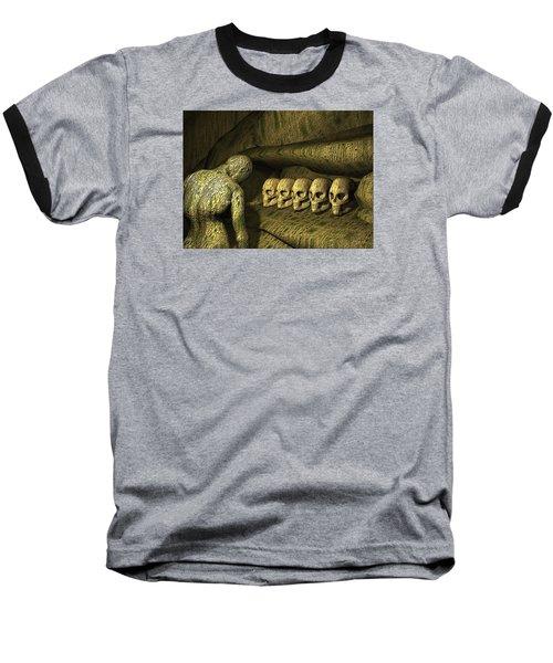 Baseball T-Shirt featuring the digital art Morbid Vespers by John Alexander