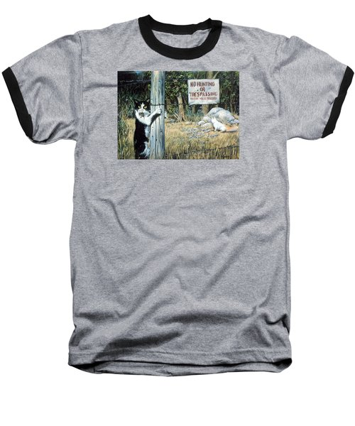 Baseball T-Shirt featuring the painting More Civil Disobedience by Donna Tucker