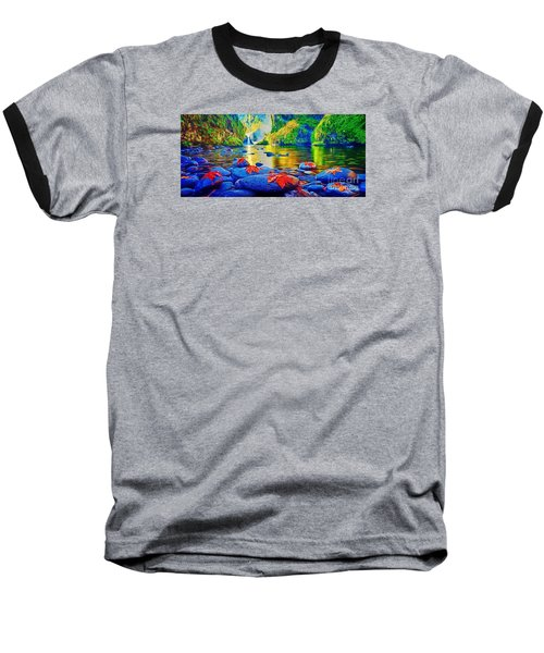 More Realistic Version Baseball T-Shirt by Catherine Lott