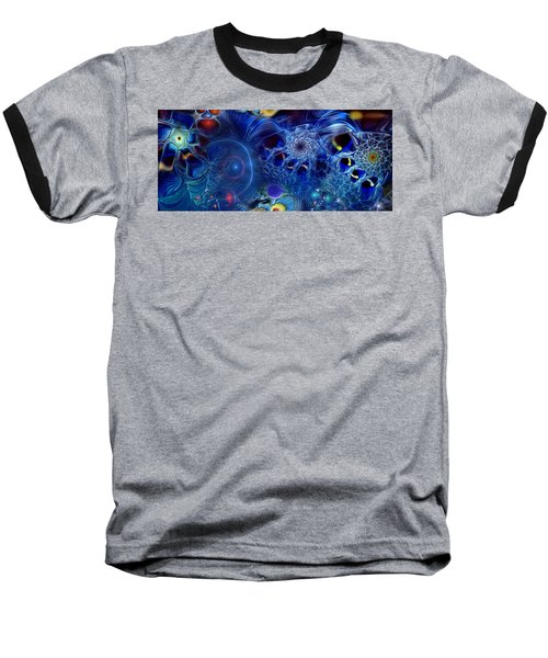 Baseball T-Shirt featuring the digital art More Things In Heaven And Earth by Casey Kotas