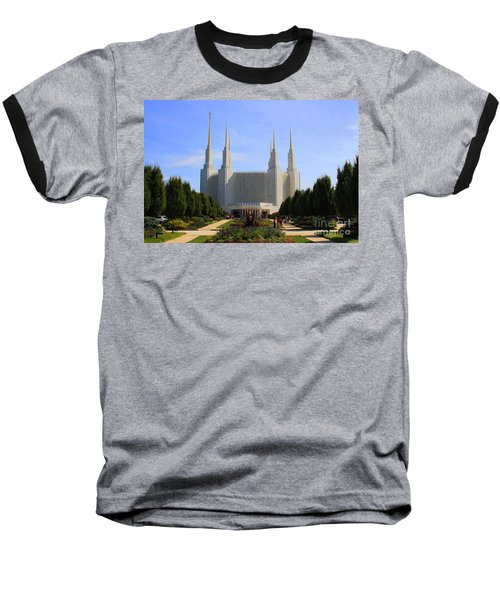 Mormon Temple Dc Baseball T-Shirt