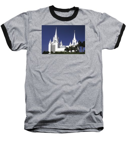 Mormon Temple Baseball T-Shirt by Paul W Faust -  Impressions of Light
