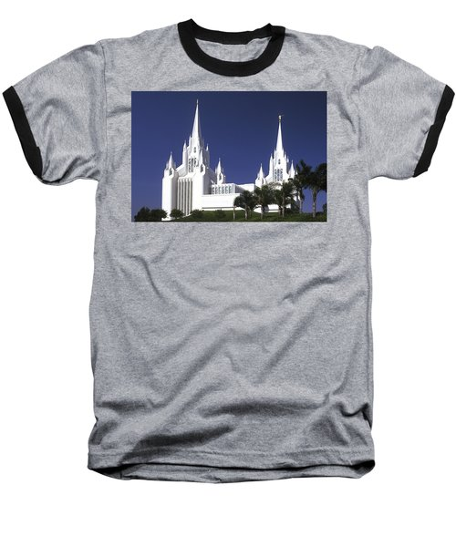 Mormon Temple Baseball T-Shirt