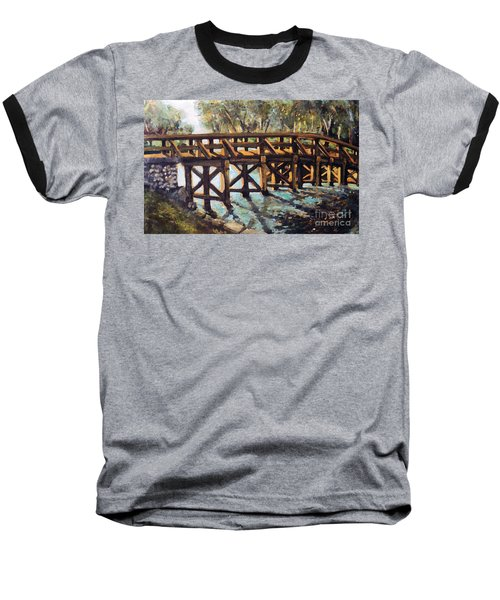Morning At The Old North Bridge Baseball T-Shirt by Rita Brown