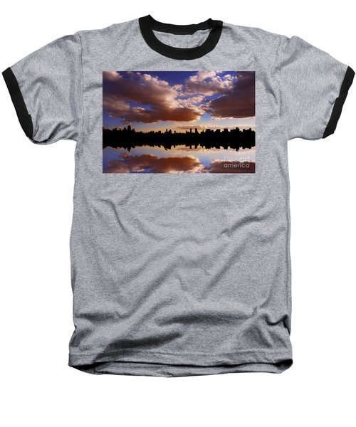 Morning At The Reservoir New York City Usa Baseball T-Shirt