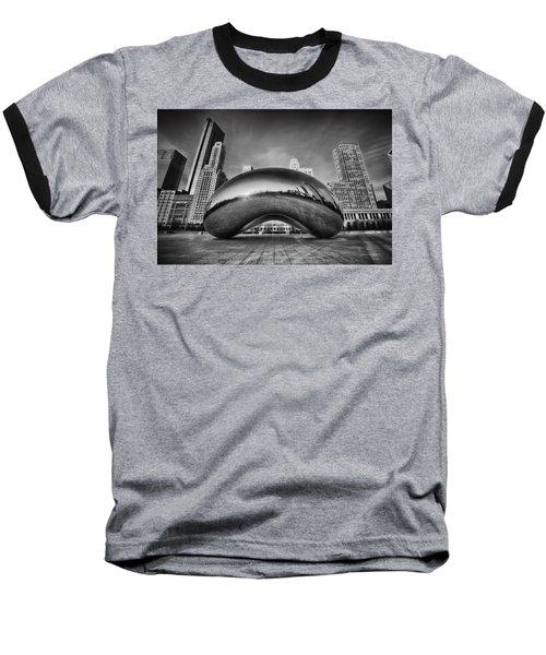 Morning Bean In Black And White Baseball T-Shirt