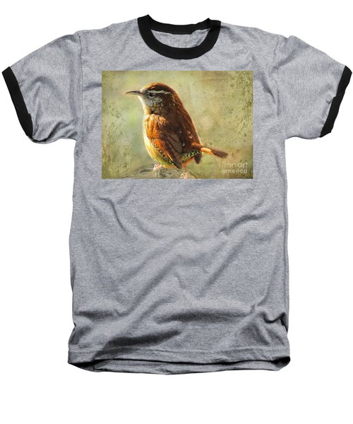 Morning Carolina Wren Baseball T-Shirt