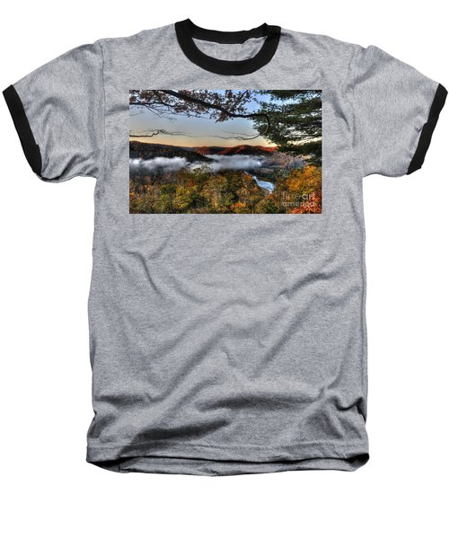 Morning Cheat River Valley Baseball T-Shirt by Dan Friend