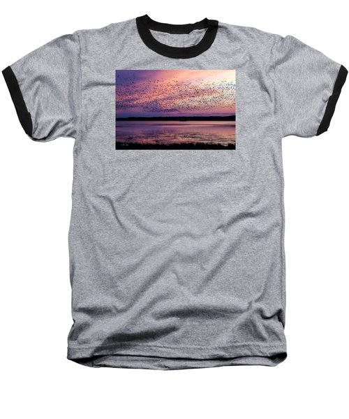 Baseball T-Shirt featuring the photograph Morning Commute by Joan Davis