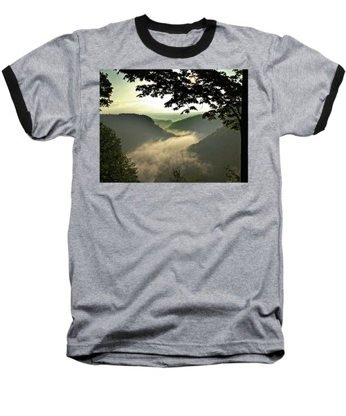 Morning Fog Baseball T-Shirt by Richard Engelbrecht