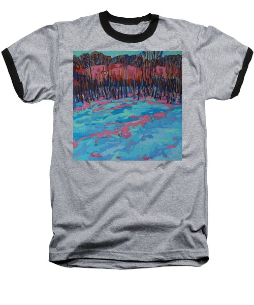Morning Forest Baseball T-Shirt by Phil Chadwick