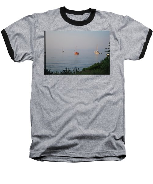 Baseball T-Shirt featuring the photograph Morning by George Katechis