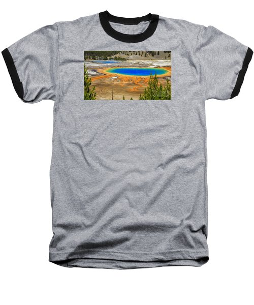 Grand Prismatic Geyser Yellowstone National Park Baseball T-Shirt