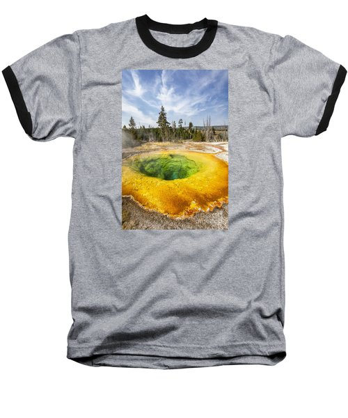 Morning Glory Pool In Yellowstone National Park Baseball T-Shirt