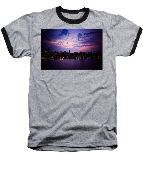 Baseball T-Shirt featuring the photograph Morning Glory by Sara Frank