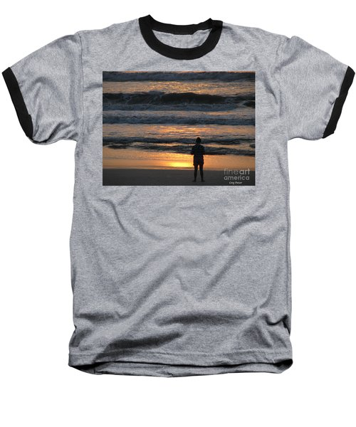 Baseball T-Shirt featuring the photograph Morning Has Broken by Greg Patzer