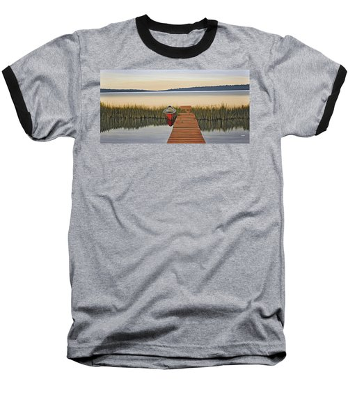 Baseball T-Shirt featuring the painting Morning Has Broken by Kenneth M  Kirsch
