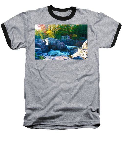 Morning In Eau Claire Dells Baseball T-Shirt