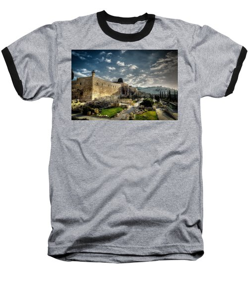 Morning In Jerusalem Hdr Baseball T-Shirt