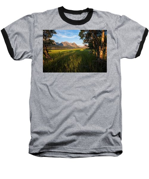 Baseball T-Shirt featuring the photograph Morning In The Mountains by Jack Bell