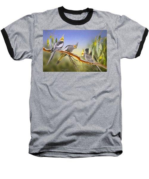 Morning Light - Cockatiels Baseball T-Shirt