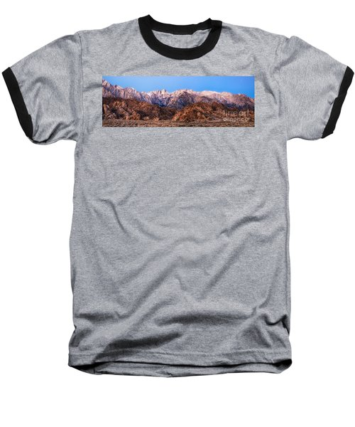 Morning Light Mount Whitney Baseball T-Shirt