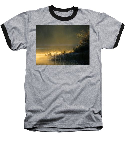 Morning Mist Baseball T-Shirt by Dianne Cowen