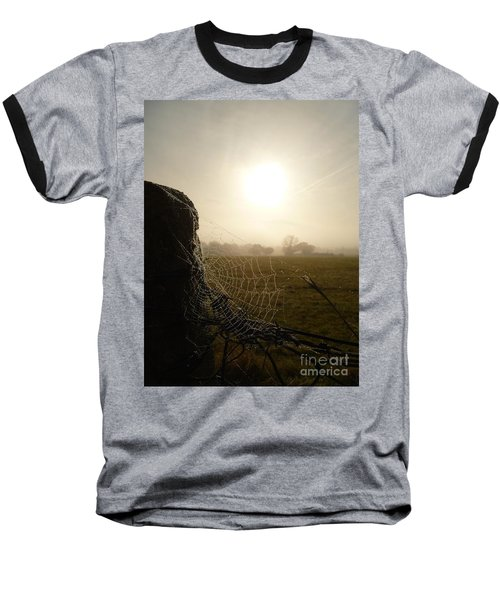 Baseball T-Shirt featuring the photograph Morning Mist by Vicki Spindler