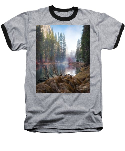 Morning On The Merced Baseball T-Shirt