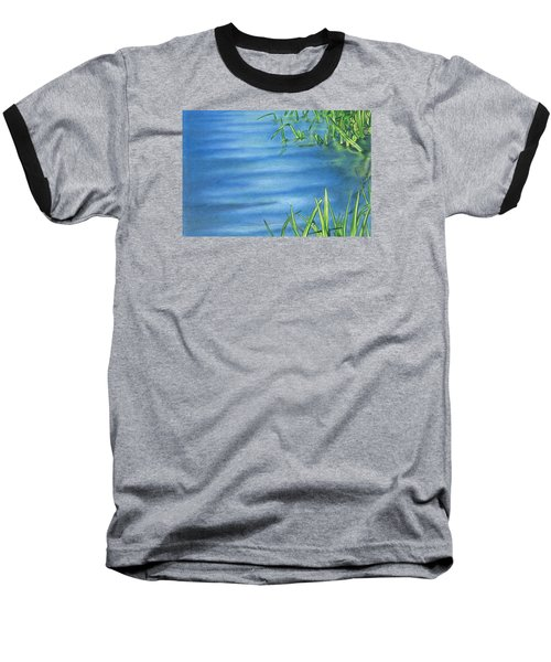 Baseball T-Shirt featuring the drawing Morning On The Pond by Troy Levesque