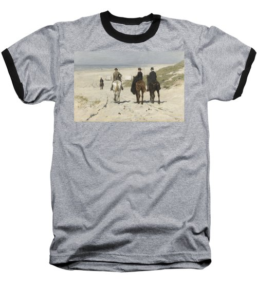 Morning Ride Along The Beach Baseball T-Shirt