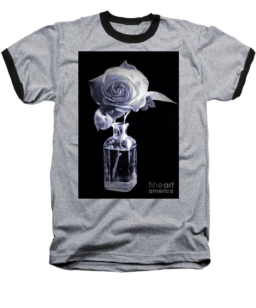 Morning Rose Cyan Baseball T-Shirt