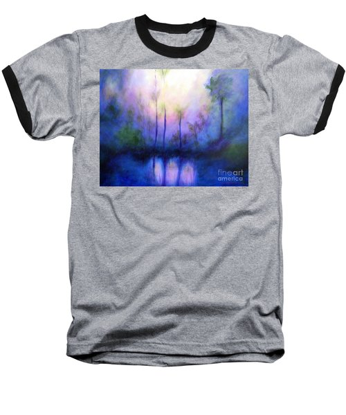 Baseball T-Shirt featuring the painting Morning Symphony by Alison Caltrider