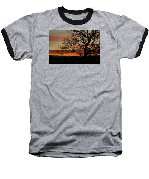 Morning View In Bosque Baseball T-Shirt by James Gay