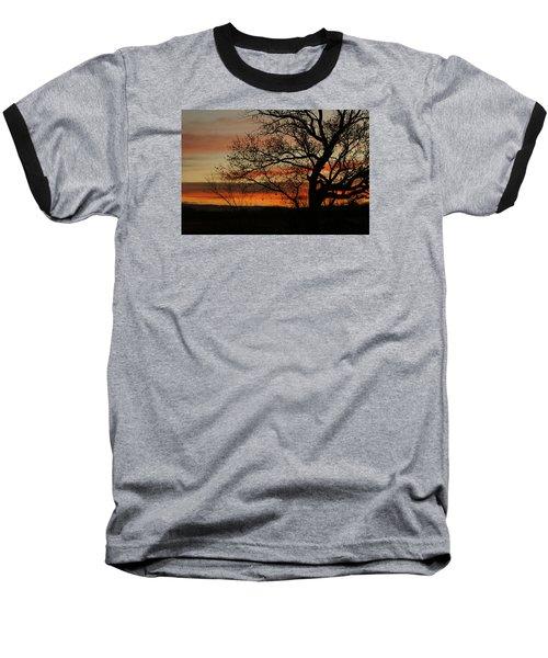Morning View In Bosque Baseball T-Shirt